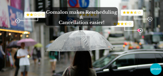 Rescheduling and Cancellation is made easier with Gomalon!